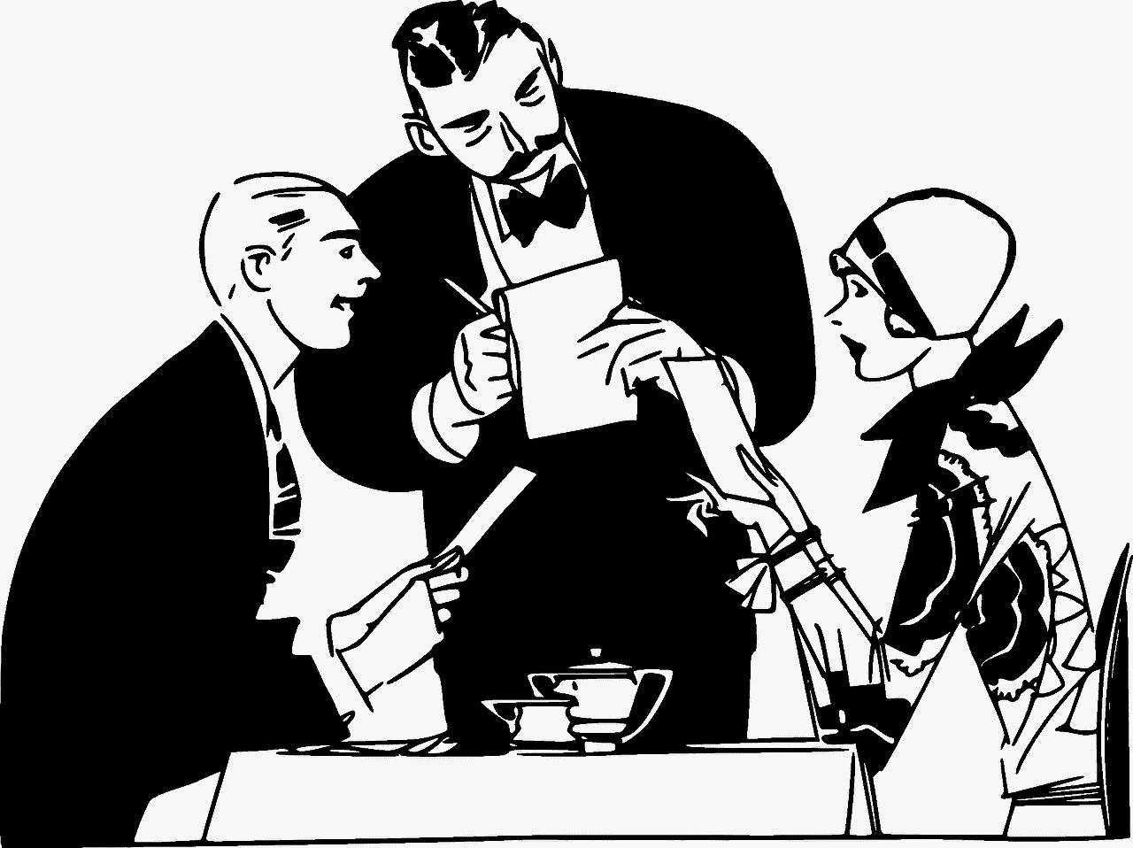 מלצר ואורחים